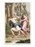Echo and Narcissus  Book III  Illustration from Ovid's Metamorphoses  Florence  1832