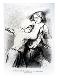 Marie and Germain from 'The Devil's Pool' by George Sand  1851 (Engraving)