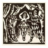 Harlequinade  Woodcut by Roger Fry (Woodcut)