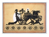 A War Chariot and Vanquished Enemies  Published 1808-10 (Colour Litho)