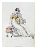 Evening Dress or Wedding Dress  Fashion Plate from Ackermann's Repository of Arts
