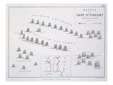 Plan of the Battle of Cape St Vincent  14th February 1797  C1830S (Engraving)