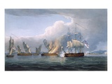 Destruction of the French Frigates L'Arianne and L'Andromache  Engraved by T Sutherland