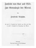 Title Page of 'Jenseits Von Gut Und Bose' and 'Zur Genealogie Der Moral'