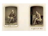 Portraits of George Gilbert Scott and Frederick Goodall (Sepia Photo)