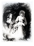Germain and Marie from 'The Devil's Pool' by George Sand  1851 (Engraving)