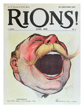 "Let's Laugh'  Cover of ""Rions"" Magazine  1908 (Colour Litho)"