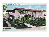 Home of Buster Keaton and Natalie Talmadge in Hollywood  1930 (Colour Litho)