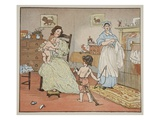 Bye  Baby Bunting  Illustration from 'Hey Diddle Diddle and Bye  Baby Bunting'  1882
