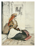 A Jewish Woman of Gibraltar  from 'Sketches of Spain'  Engraved by Charles Joseph Hullmandel