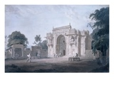 Gate Leading to a Mosque  Chunargarh  Uttar Pradesh (Coloured Aquatint)