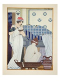 A Bath Seat  Illustration from 'The Works of Hippocrates'  1934 (Colour Litho)