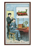 The Invention of Telegraphy with Morse Code  Number 65 in a Series of Cards