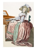 The Virtuosa in a Dress 'A L'Anglaise' with a Marlborough Border and a Half-Balloon Hat