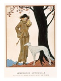 Autumnal Symphony  Afternoon Coat and Dress by Worth  from 'Gazette De Bon Ton' No9  1922
