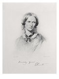 Portrait of Charlotte Bronte  Engraved by Walker and Boutall (Engraving)