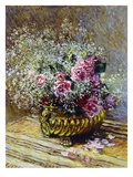 Roses in a Copper Vase  1878 (Oil on Canvas)