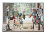 Frederick the Great and the 85-Year-Old Zieten  1784 (Colour Litho)