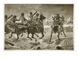 Mahsameh  Scene in the Egyptian War of 1882  Engraved by WJ Palmer (Engraving)