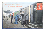 Holiday Postcard from Saint-Brieuc  C1910 (Colour Litho) (After a Photo)