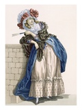 L'Amiable Cephise  Engraved by Dupin  Plate No205 from 'Galeries Des Modes Et Costumes Francais'