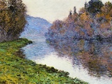The Seine at Jenfosse  1884 (Oil on Canvas)