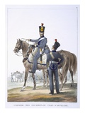 Uniform of the Artillery Squadron  1823 (Colour Litho)