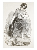 Peasant Girl of Mull  from 'The Illustrated London News'  1849 (Engraving)