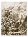 Sergeant R Downie Attacks and Kills a Gun Team  and Captures the Gun (Litho)