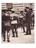 In London: Lord Kitchener Inspecting the Russian Contingent on Special Duty Here