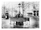 Vespasienne (Public Urinal) on the Grands Boulevards  Paris  C1900 (B/W Photo)