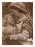Portrait of Mother and Child (Sepia Photo)