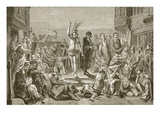 Solomon Eagle Preaching During the Plague of London  Engraved by J and GP Nicholls (Engraving)