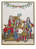 The French Royal Family Holding a Portrait of Louis Xiv  Late Seventeenth Century