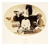 Tailors  Hindoos  Madras  from 'The People of India'  by J Forbes Watson  Published 1868