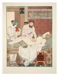 Medical Massage  Illustration from 'The Works of Hippocrates'  1934 (Colour Litho)