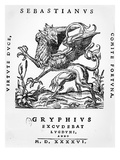 Griffin Printer&#39;s Emblem of Sebastianus Gryphius  Lyon  1546 (Woodcut)