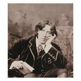 Portrait of Oscar Wilde (1854-1900)  1882 (B/W Photo) (Detail of 87436)
