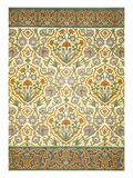 Faience Mural with Border Using Highly Stylised Repeating Patterns Using Plant Forms  from a Kiosk