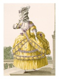 Golden Gown  Engraved by Dupin  Plate No37 from 'Galeries Des Modes Et Costumes Francais'  1789
