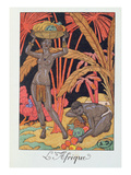 Africa'  Illustration for a Calendar for 1921  1920 (Colour Litho)