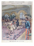 A Jiu-Jitsu Session in France  Illustration from 'Le Petit Parisien'  1905 (Colour Litho)