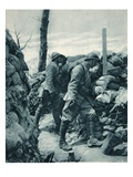 The French Front: Watching the Enemy's Trench Through a Periscope before a Throw