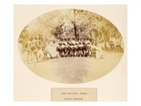 Cole National Dance  Chota Nagpoor  from 'The People of India'  by J Forbes Watson  Published 1868