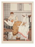 Applying a Suction to the Breast  Illustration from 'The Works of Hippocrates'  1934 (Colour Litho)