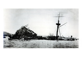 The Catastrophe of the Uss Maine  1898 (B/W Photo) (See 206525  206526)