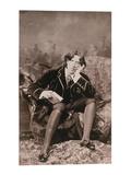 Portrait of Oscar Wilde (1854-1900)  1882 (B/W Photo)
