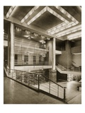 The Hall Stairway and Grilled Balcony of Theatre Pigalle  1920S (B/W Photo)
