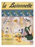 Cover Illustration from 'La Baionnette' Magazine  1914-18 (Colour Litho)