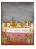 The Young Mughal Emperor Muhammad Shah at a Nautch Performance (1719-48)  C1725
